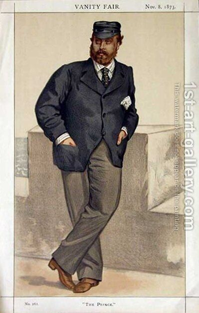 Caricature of Edward, Prince of Wales by James Jacques Joseph Tissot - Reproduction Oil Painting