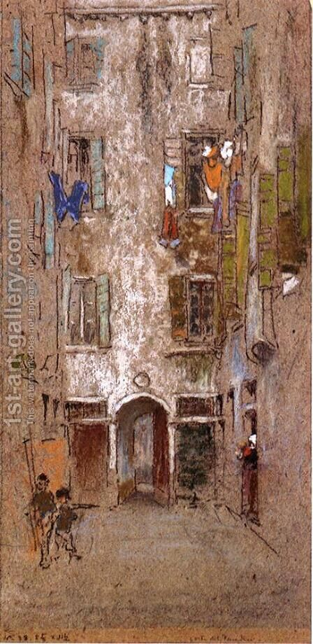 Paradise Court by James Abbott McNeill Whistler - Reproduction Oil Painting