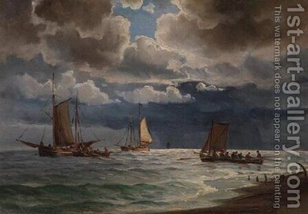 Seascape 6 by Ioannis (Jean H.) Altamura - Reproduction Oil Painting