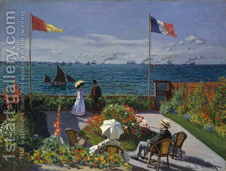 Garden at Sainte-Adresse 2 by Claude Oscar Monet - Reproduction Oil Painting