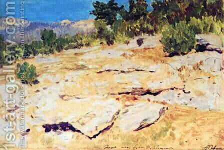 In the Crimea Mountains by Isaak Ilyich Levitan - Reproduction Oil Painting