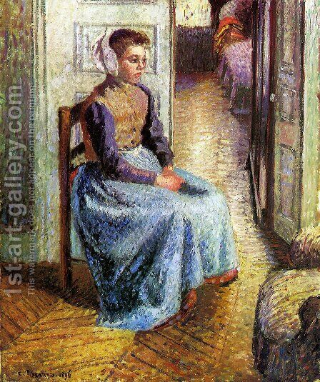 Young Flemish maid by Camille Pissarro - Reproduction Oil Painting