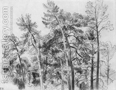 The tops of the pines 2 by Ivan Shishkin - Reproduction Oil Painting