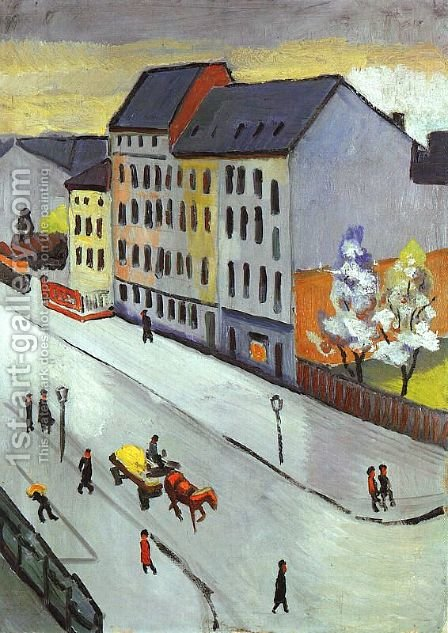 Unknown 9 by August Macke - Reproduction Oil Painting