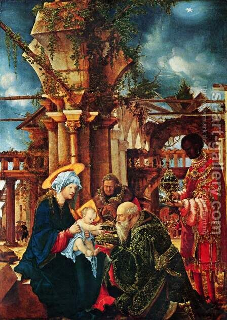 The Adoration of the Magi by Albrecht Altdorfer - Reproduction Oil Painting
