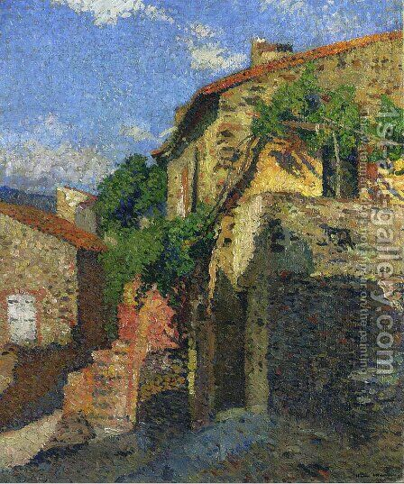 Houses at Collioure by Henri Martin - Reproduction Oil Painting