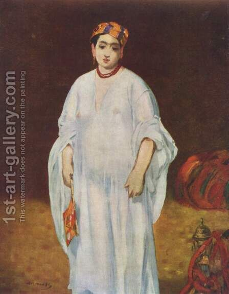 Young Woman in Oriental Garb by Edouard Manet - Reproduction Oil Painting