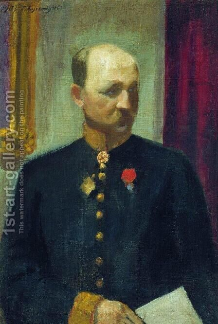 Portrait of public servant Nikolai Nikolayevich Korevo by Boris Kustodiev - Reproduction Oil Painting
