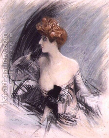 Portrait of Sarah Bernhardt 2 by Giovanni Boldini - Reproduction Oil Painting