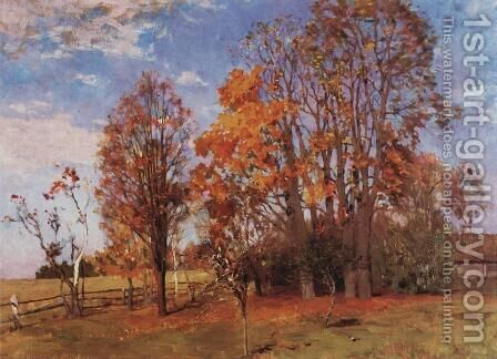 Autumn 8 by Isaak Ilyich Levitan - Reproduction Oil Painting
