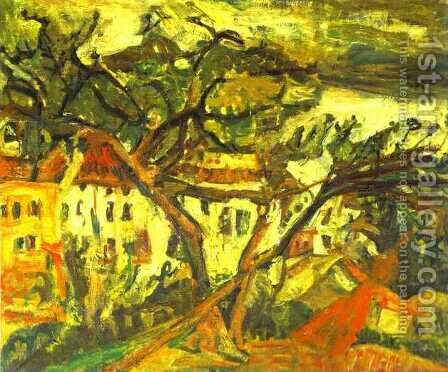 Landscape of the South of France by Chaim Soutine - Reproduction Oil Painting