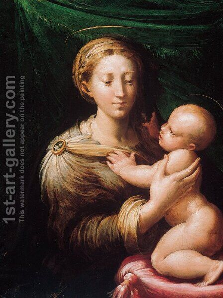 Madonna and Child by Girolamo Francesco Maria Mazzola (Parmigianino) - Reproduction Oil Painting