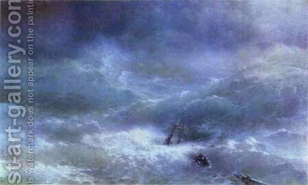 Storm 5 by Ivan Konstantinovich Aivazovsky - Reproduction Oil Painting