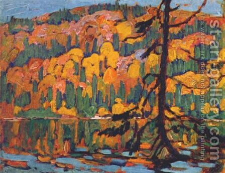 Autumn Algoma by James Edward Hervey MacDonald - Reproduction Oil Painting