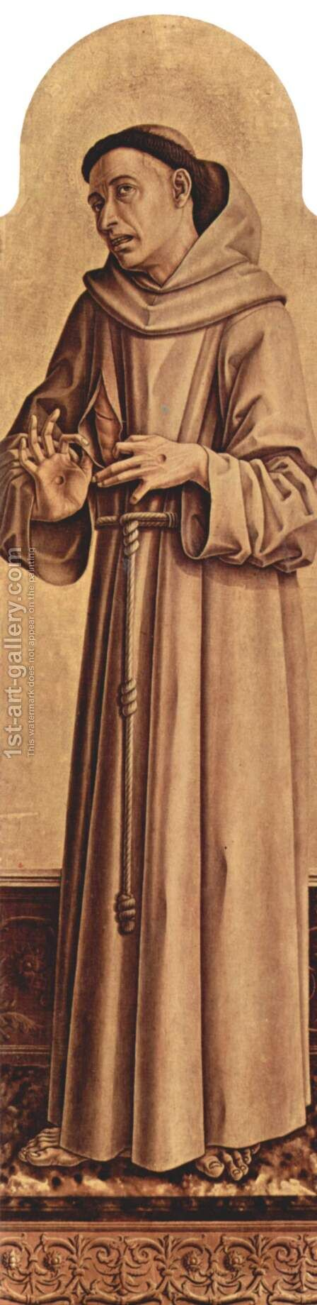 Saint Francis by Carlo Crivelli - Reproduction Oil Painting