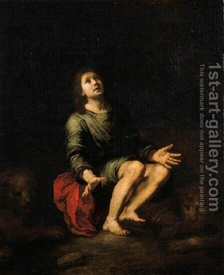 Daniel in the lions' den by Bartolome Esteban Murillo - Reproduction Oil Painting