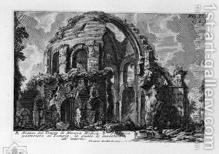 The Roman antiquities, t. 1, Plate XVI. Temple of Minerva Medica. by Giovanni Battista Piranesi - Reproduction Oil Painting