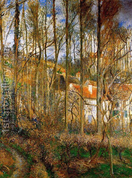 The Cote des Boeurs at l'Hermitage, near Pontoise by Camille Pissarro - Reproduction Oil Painting
