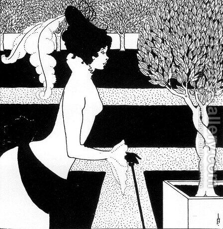 Title page ornament for 'The Yellow Book' by Aubrey Vincent Beardsley - Reproduction Oil Painting