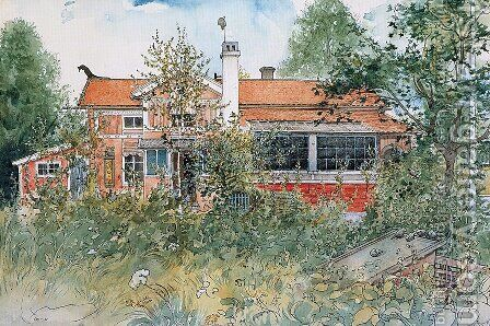 The Cottage by Carl Larsson - Reproduction Oil Painting