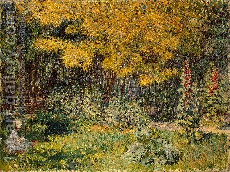 The Garden 2 by Claude Oscar Monet - Reproduction Oil Painting