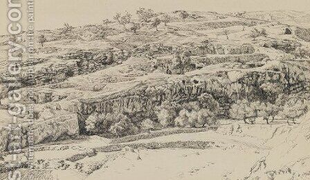 The Tombs in the Valley of Hinnom by James Jacques Joseph Tissot - Reproduction Oil Painting
