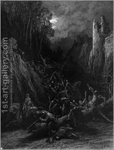 Idylls of the King 15 by Gustave Dore - Reproduction Oil Painting