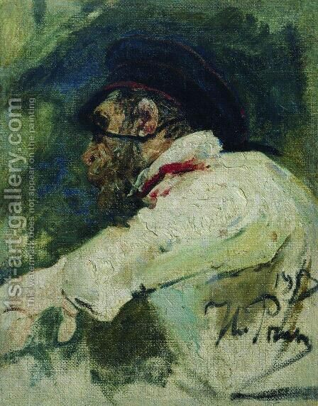 A man in white jacket by Ilya Efimovich Efimovich Repin - Reproduction Oil Painting