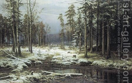 First Snow by Ivan Shishkin - Reproduction Oil Painting