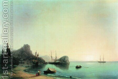 Italian landscape 2 by Ivan Konstantinovich Aivazovsky - Reproduction Oil Painting