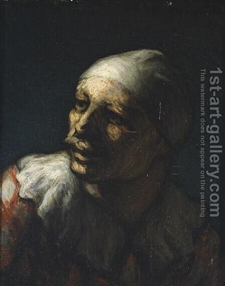 Head of Pasquin by Honoré Daumier - Reproduction Oil Painting