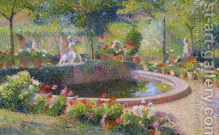 Fountain in Marquayrol 5 by Henri Martin - Reproduction Oil Painting