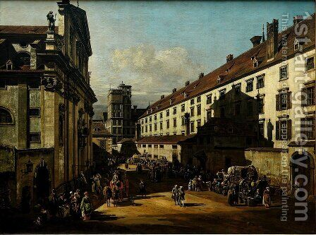 The Dominican Church in Vienna by Bernardo Bellotto (Canaletto) - Reproduction Oil Painting