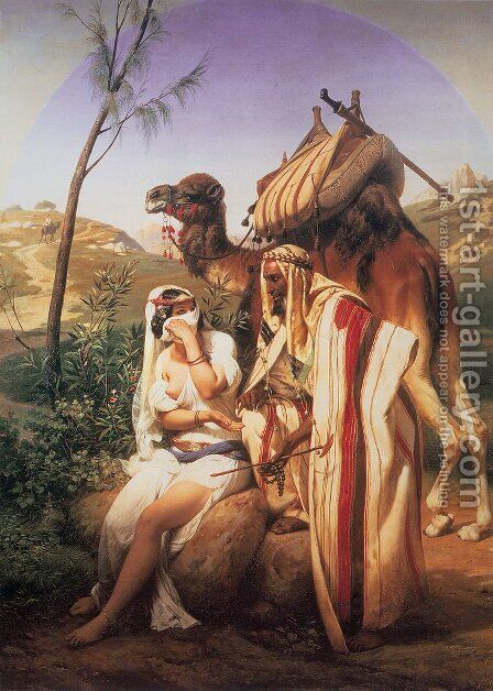 Juda et Thamar by Horace Vernet - Reproduction Oil Painting