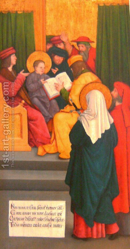 Twelve-year-old Jesus in the Temple by Bernhard Strigel - Reproduction Oil Painting