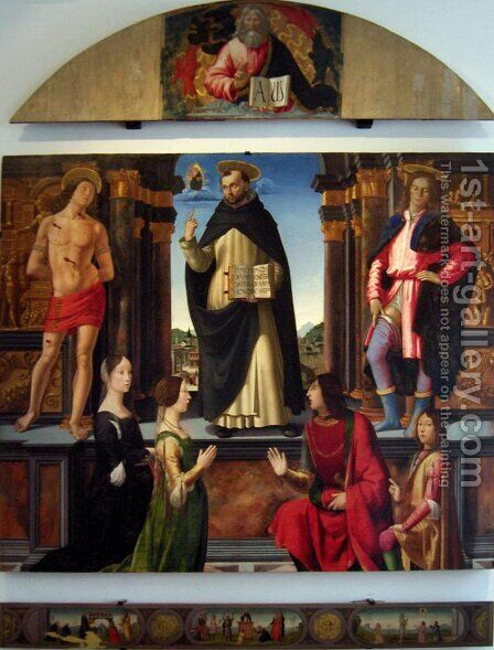 Altarpiece of St. Vincent Ferrer by Domenico Ghirlandaio - Reproduction Oil Painting