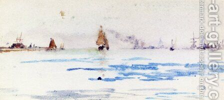 The North Sea by James Abbott McNeill Whistler - Reproduction Oil Painting