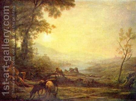 Shepherd by Claude Lorrain (Gellee) - Reproduction Oil Painting