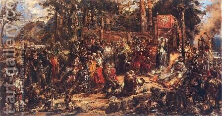 Christianization of Lithuania  A D  1387 by Jan Matejko - Reproduction Oil Painting