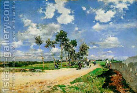 The Great Road in the Villas Combes by Giovanni Boldini - Reproduction Oil Painting