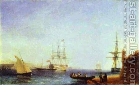 Malta Valetto Harbour by Ivan Konstantinovich Aivazovsky - Reproduction Oil Painting