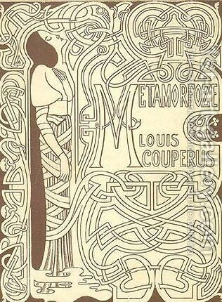 Cover for 'Metamorphosis' by Louis Couperus by Jan Toorop - Reproduction Oil Painting