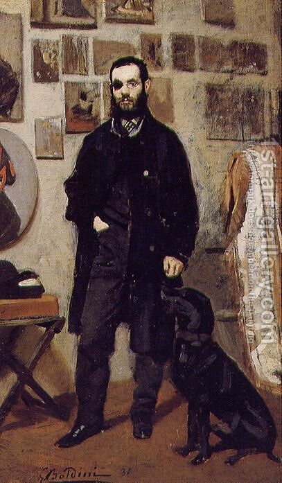 Portrait of Giuseppe Abbati by Giovanni Boldini - Reproduction Oil Painting