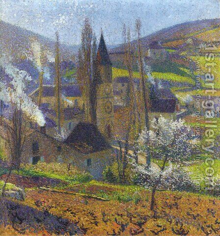 Labastide in Spring behind the Presbytere by Henri Martin - Reproduction Oil Painting
