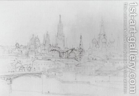 View of Moscow by Arkhip Ivanovich Kuindzhi - Reproduction Oil Painting