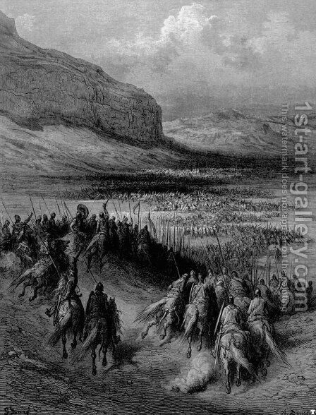 Ottomans penetrate Hungary by Gustave Dore - Reproduction Oil Painting