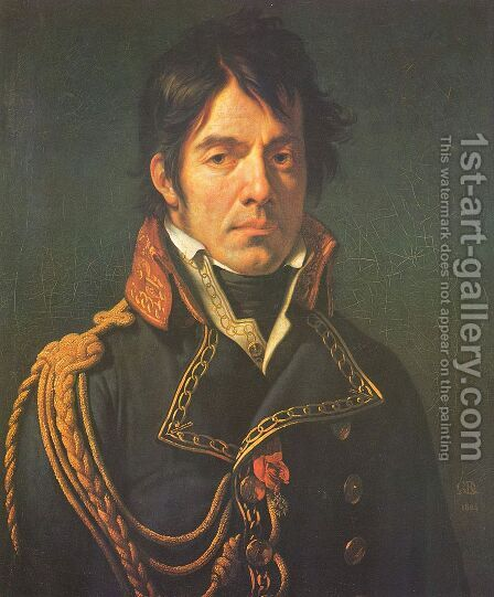 Le baron Jean-Dominique Larrey by Anne-Louis Girodet de Roucy-Triosson - Reproduction Oil Painting
