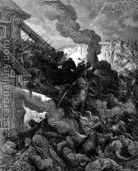 Godfrey enters Jerusalem by Gustave Dore - Reproduction Oil Painting