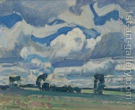 Fields and Sky by James Edward Hervey MacDonald - Reproduction Oil Painting