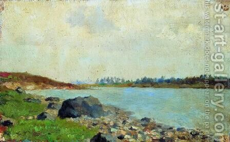 At Moscow-river by Isaak Ilyich Levitan - Reproduction Oil Painting